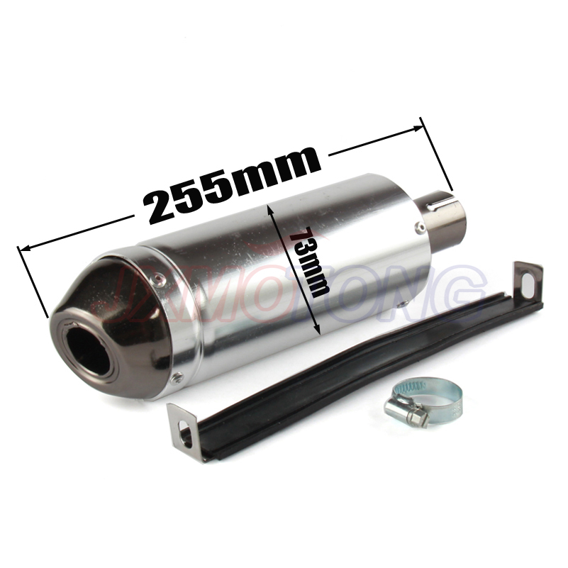 28mm Silver Universal Motocross Motorcycle Exhaust Muffler Tip Pipe for 125 150 160cc Dirt Pit Bike exhaust ATV CQR