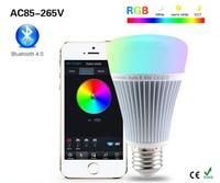 LED Bulb light BluetoothAC85 265V LED E27 8W RGB+ 3000K 6500K Color Temperature Dimmable RGBW Bulb (AC85~265V)