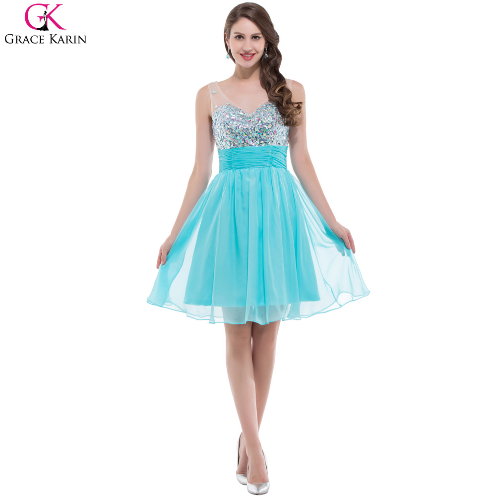Online buy wholesale aqua blue bridesmaid dresses from china aqua aqua blue bridesmaid dresses 2017 grace karin short bridesmaid dress short prom dress luxury white sparkly ombrellifo Choice Image