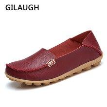 Новая женская кожаная обувь стильные Мокасины без шнуровки, мягкие лоферы, женская повседневная обувь на плоской подошве, размеры 34-44, 20 цветов