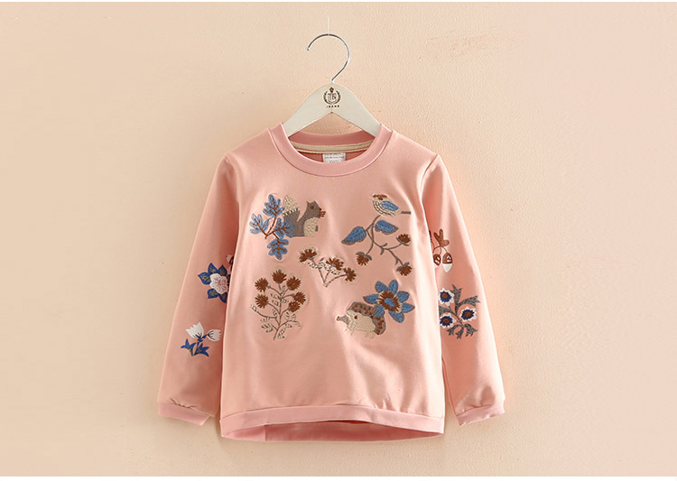 HTB1IpnyersTMeJjSszdq6AEupXaW - Kids Girls T Shirts Autumn 2018 Fashion Embroidery Pattern Kids T Shirt Long Sleeve Simple O-neck Children Clothing B0699