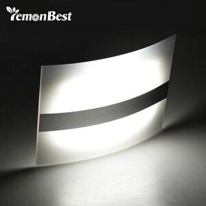 Image 1 - LED ضوء الليل الألومنيوم حالة إضاءة المنزل مشرق LED مصابيح بمستشعرات حركة المنشط اللاسلكية الجدار مصباح الشمعدان البطارية بالطاقة
