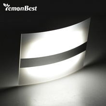 Luz LED nocturna con carcasa de aluminio iluminación para el hogar, luces LED brillantes con Sensor de movimiento, aplique inalámbrico activado con batería