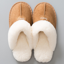 Women House Slippers Plush Winter Warm Shoes Woman Comfort C