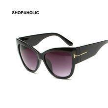Lunettes de soleil œil de chat pour femmes, verres solaires, Tom, tendance, nouvelle collection, dégradé, marque de styliste Oculos