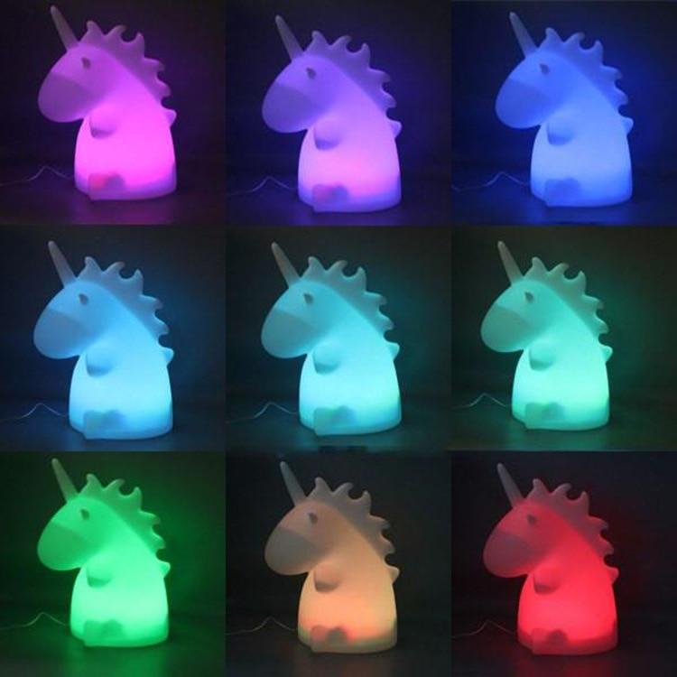 Unicorn Night Light for kids Lamps Cartoon Pets Sleep Kids Lamp Night light for Children Gifts change 9 color night lights lamps caesar change night ret 60x60