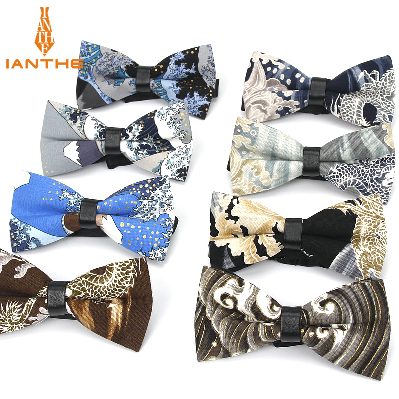 2018 Brand New Fashion Men Classic Tie Bowties Casual Wave Bow Tie Suits Shirts Necktie For Wedding Party Tuxedo Skinny Cravat