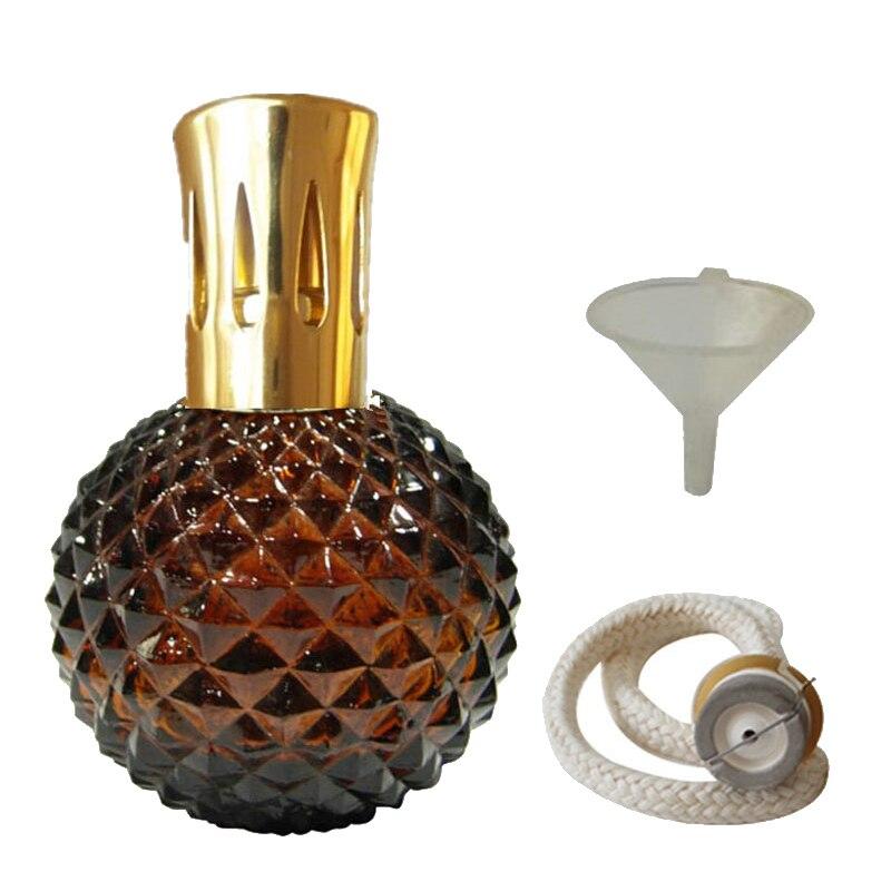 Арома Рид диффузор-100 мл Аромат Эфирное масло лампа стеклянная бутылка с каталитическим благовоний сжигание фитиль и фунель для Aromatherap