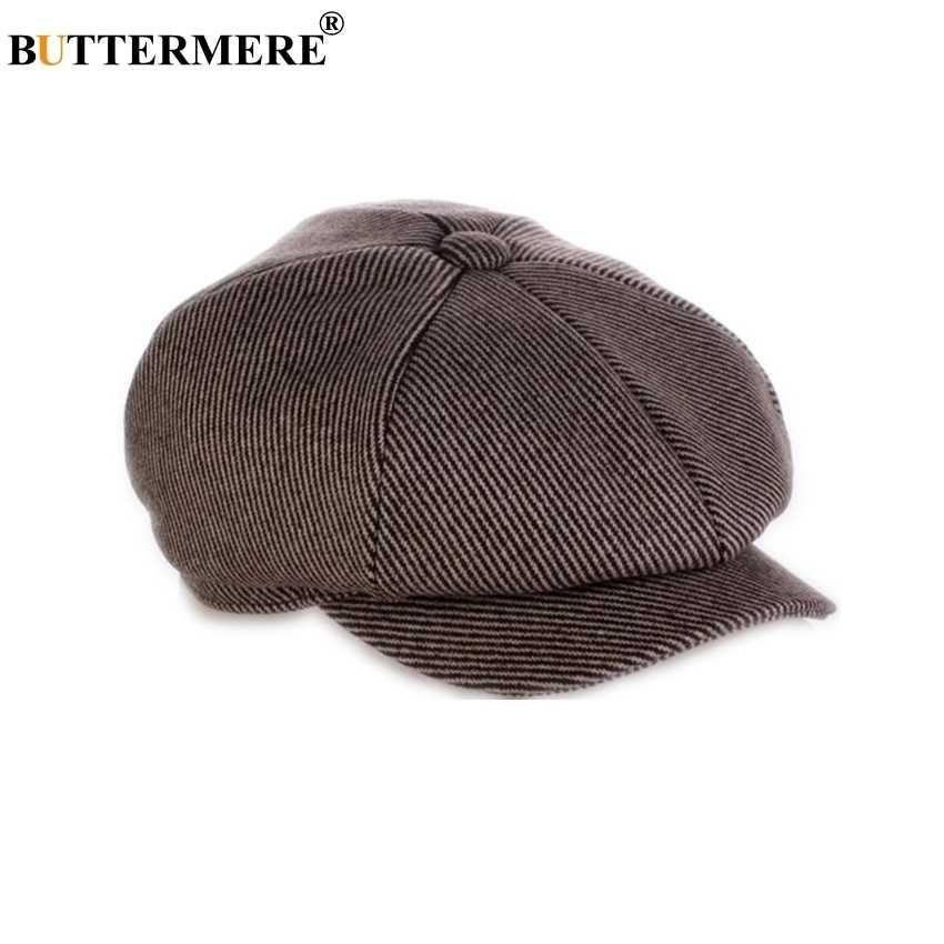 4f058dfec3ea2b BUTTERMERE Flat Cap Men Wool Newsboy Caps Women Tweed Beret Hat Male Gatsby  Octagonal Spring Autumn