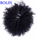 7A Mongolian afro kinky curly bulk human hair for braiding 1pcs human braiding hair bulk Mongolian virgin bulk hair extensions