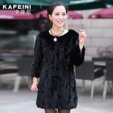 Luxury Winter Women s Genuine Natural Spliced Mink Fur Coat Jacket O Neck Lady Warm Outerwear