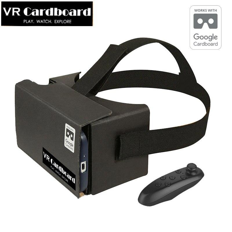 Vr google cartón cartón caja de vr vr headmount shinecon realidad virtual + blue