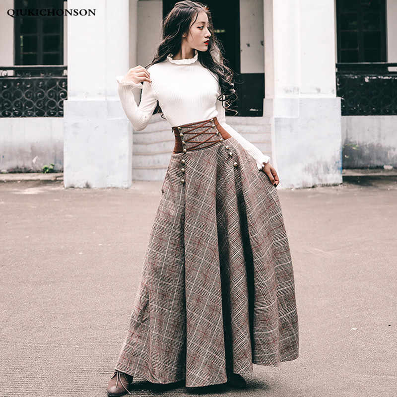 7afd6fd0a778 Vintage England Style Elegant Knitted Two Piece Women Sets 2 Pieces Sweater  Corset Lace-up