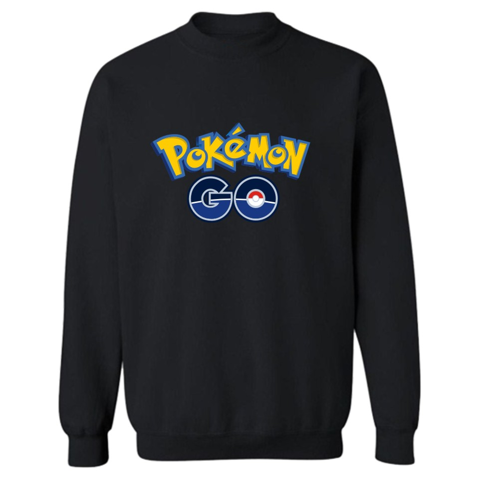 Pokemon Go Capless Winter Hoodies Men Casual Autumn Fashion Sweatshirt Men Hoodie Classic Japanese Game Casual Black Clothes 4XL