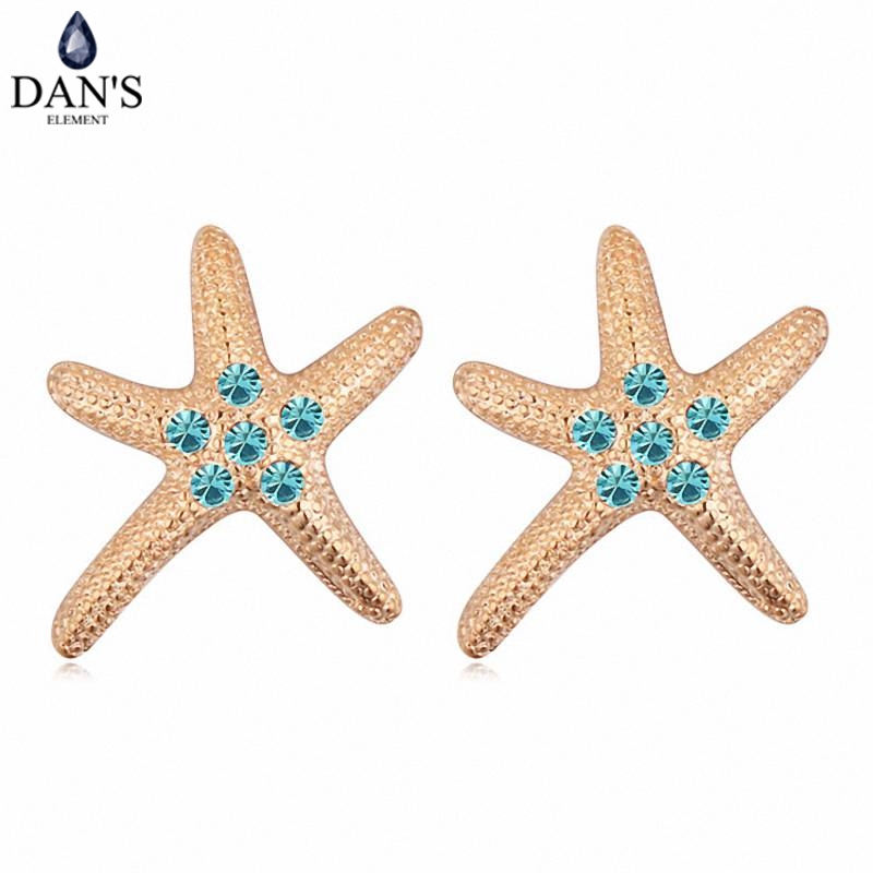 DANS Colors Real Austrian crystals Stud earrings for women Earrings s New Sale Hot Round 115799