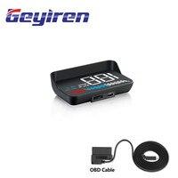 GEYIREN M7 Mit Objektiv Haube Auto HUD display geeignet für alle autos head up display Windschutzscheibe Projektor Alarm System Universal auto|Head-Up-Display|   -