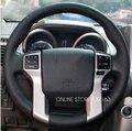 Preto Genuine Cobertura de Volante de Couro para Toyota Land Cruiser Prado 2010 2012 2014 Tundra Tacoma