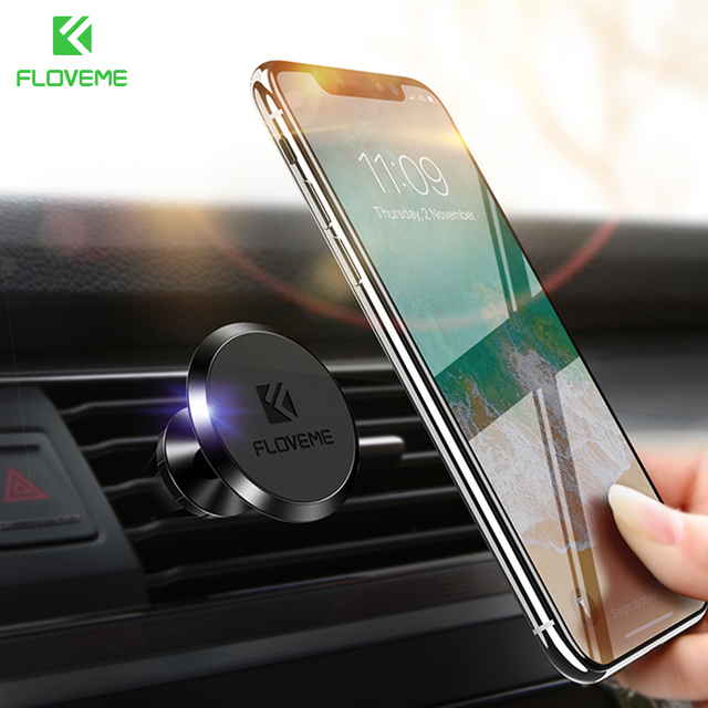 FLOVEME Universal Car Phone Holder Magnetic Mobile Phone Holder For Phone In Car Stand Mount For iPhone X Air Vent Magnet Holder