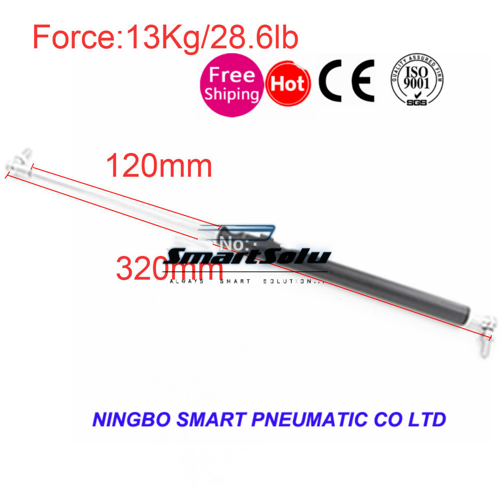 free shipping Gas Spring 13KG/28.6lb Force 120mm *320mm Gas Spring Damper for Furniture Car 120mm Stroke Gas Strut Door 320mm
