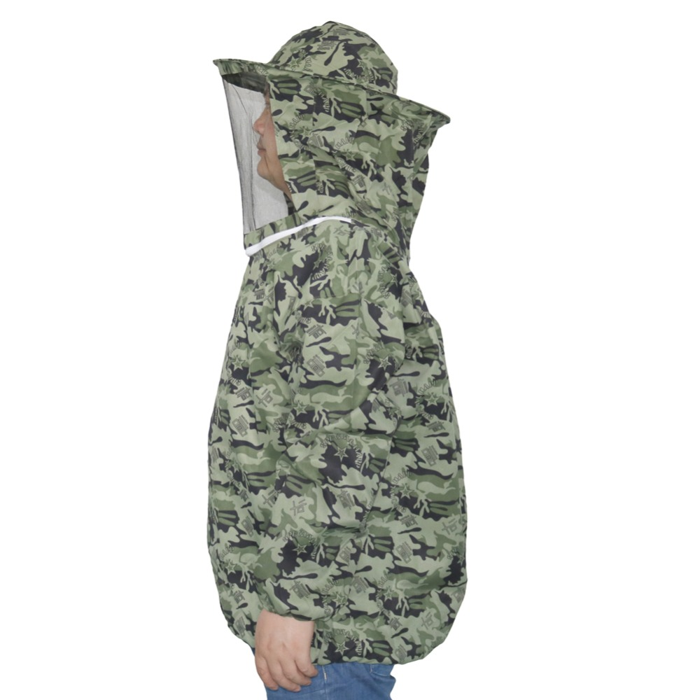 1 Pcs Beekeeper Camo Clothing Breathable Beekeeping Protective Clothing Suitable For Height 150cm-180cm