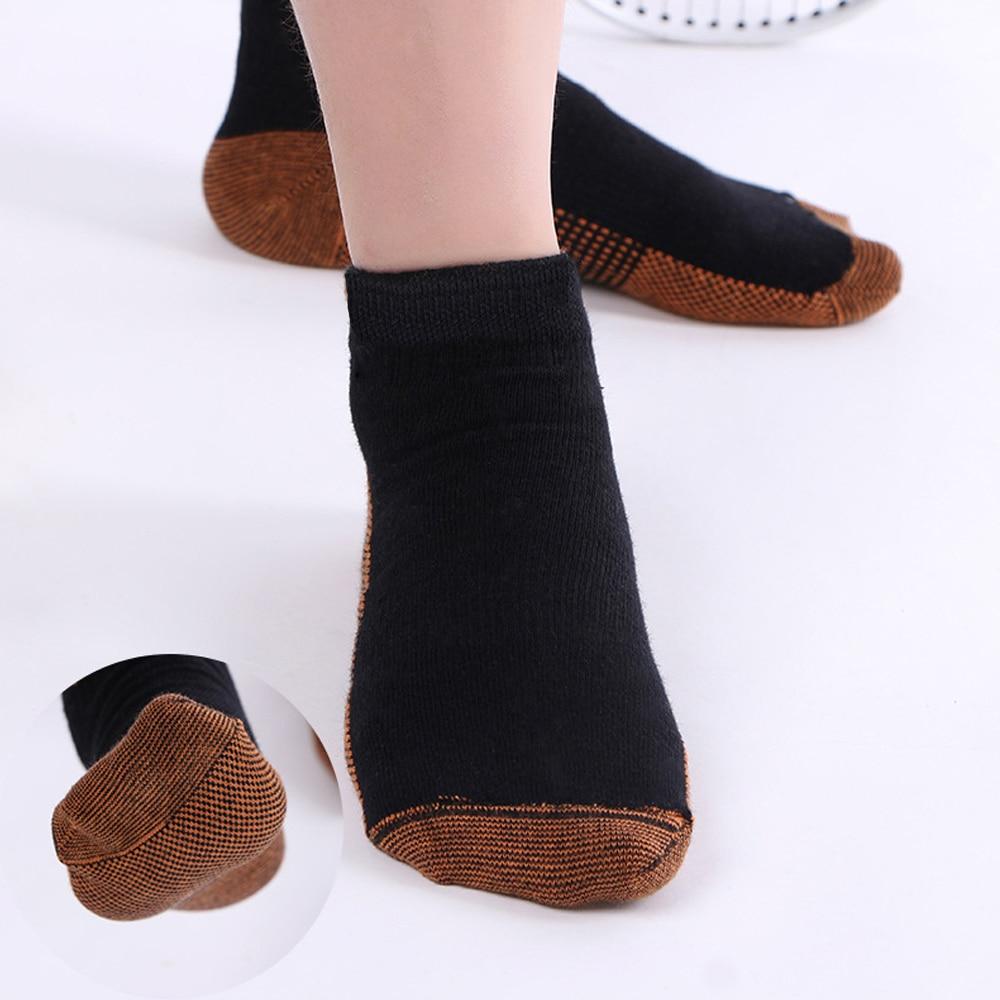 david angie Copper Anti-Fatigue Compression Socks Women Men Breathable Soft Cotton Ankle Socks Black White, Best Quality,1Yc2114