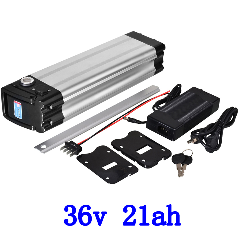 36V 21AH e bike Silver fish bottom discharge electric bike 36V 20.3ah lithium battery for Panasonic cell  with 2A charger 36V 21AH e bike Silver fish bottom discharge electric bike 36V 20.3ah lithium battery for Panasonic cell  with 2A charger