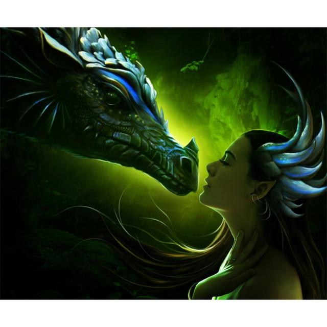dragon protecting girl