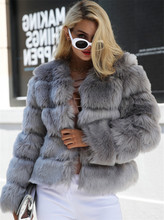 Tapakva Fluffy faux fur coat women Short furry fake fur winter outerwear coat autumn casual party overcoat female
