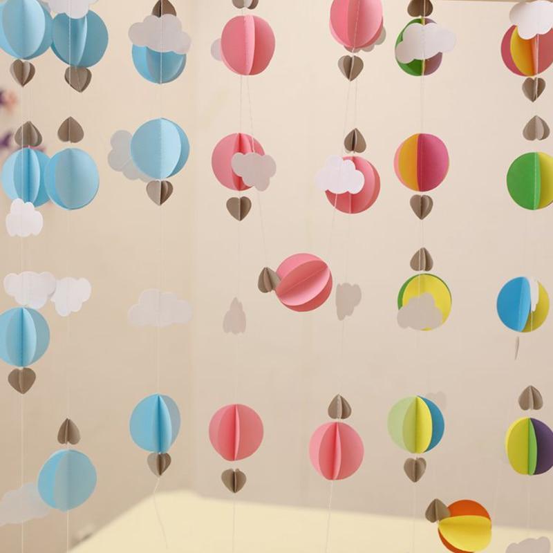 1 Stks / partij Cirkel Hart Cloud Papier Opknoping Banner Ballon - Feestversiering en feestartikelen
