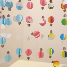1 τεμάχιο / παρτίδα Κύκλος καρδιά Σύννεφο χαρτί Κρεμαστά Banner Μπαλόνι String Γιρλάντες Streamer Γενέθλια Γάμος Δωμάτιο Διακόσμηση Πόρτα