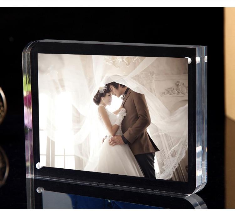 De pie doble cara seethrough acrílico magnética foto Marcos cristal ...