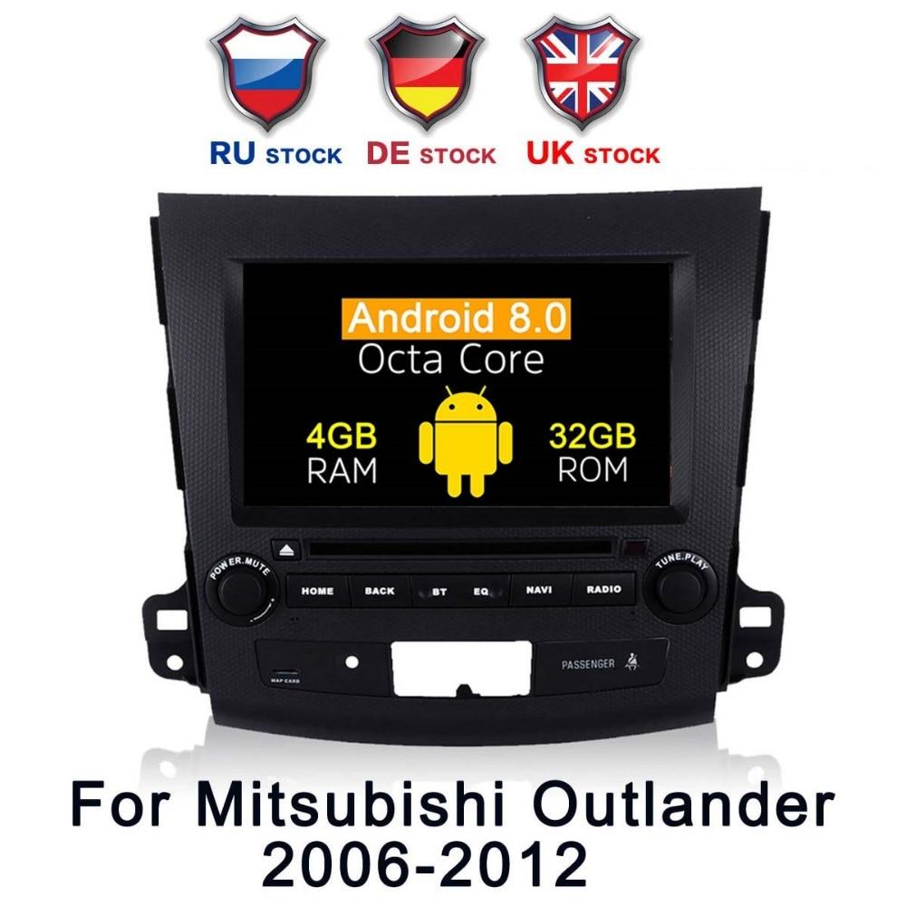 Octa Core Android 8 0 Car DVD Radio GPS Navigation For Mitsubishi Outlander 2006 2014 Peugeot