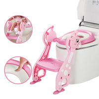 Foldable Baby Potty Training Chair Ladder Children Potty Baby Toilet Seat Infant Toilet Training Folding Seat Step Stools Gifts