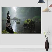 Настраиваемый постер дзен стена для гостиной художественный плакат украшение шелковая ткань яркая гладкая без рамки Современная печать ст...
