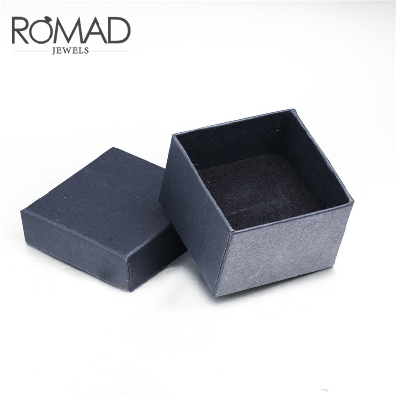 ROMAD Dropping Gift Box for Jewelry Black Color Bracelet Ring Package for Women Men Jewelry Gift Package R4