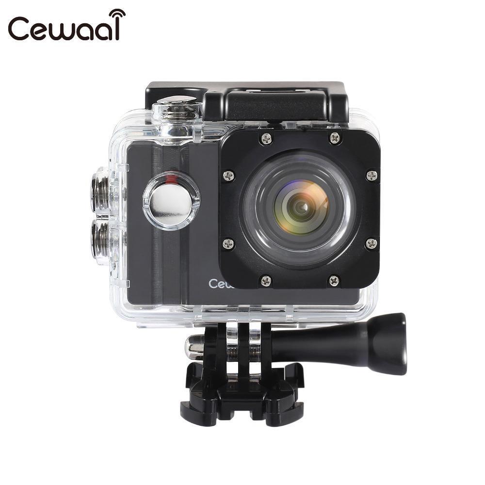 Cewaal для экшен-камеры EKEN Wifi Ultra 4k HD широкоугольный стеклянный объектив водонепроницаемая Спортивная камера 4 K/24fps 1080 p/60fps для подарка