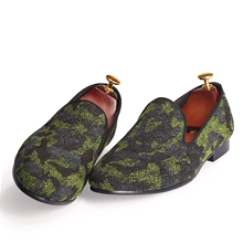 Harpelunde Men Camouflage Shoes Pearl Design Casual Shoes Flat Shoes Size 7-14