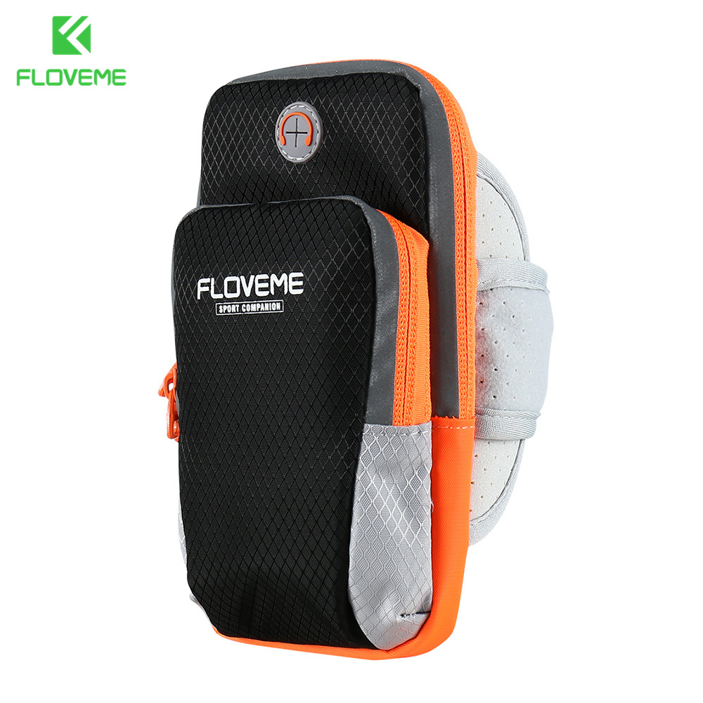 Objective Case For Phone On Hand Universal Sports Armband Case Zippered Fitness Running Arm Band Bag 5.5 Inch Pouch For Mobile Phone Sale Wide Varieties Mobile Phone Accessories