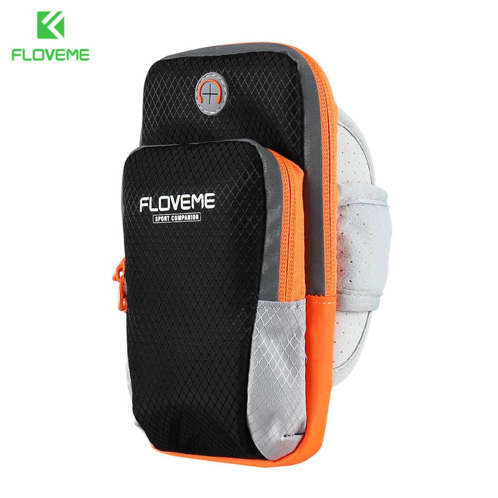 FLOVEME الرياضة ذراع الهاتف الفرقة حالة تشغيل الركض حقيبة العالمي لجميع Moblie الهواتف 3.5-6 بوصة ل فون 7 8 7 زائد 6 6 زائد