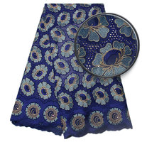 Factory Offer Latest African Cotton Lace Fabric With Stones High Quality African Swiss Voile Lace In