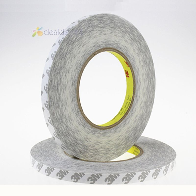 50M/Roll 8mm Double Sided Tape 3M Adhesive Tape 8mm Width for 3528 2835 3014 Led strips, LCD screen,car light Free Shipping