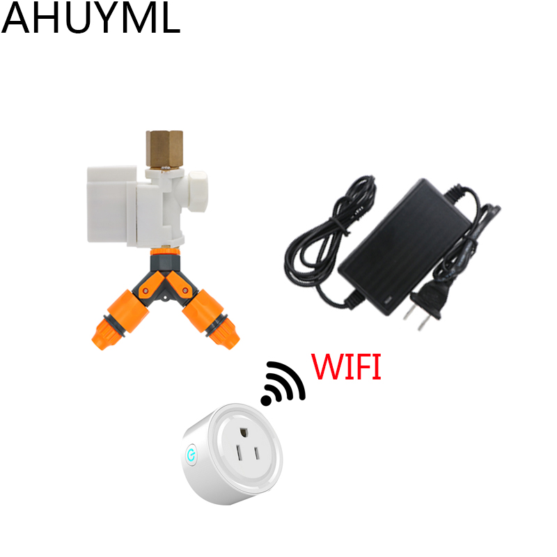 4PCS WIFI Timer Switch Water Valve Intelligent Automatic Watering Set Irrigation Automatic Play Timer Quantitative Controller