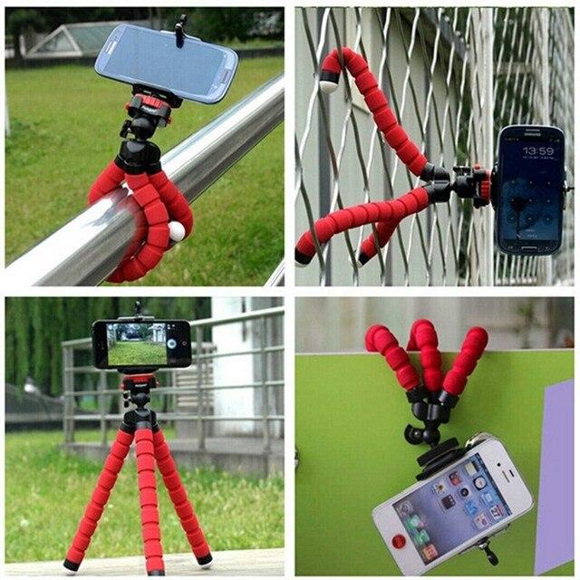 Bicicleta suporte do telefone móvel estilo do carro flexível octopus tripé suporte suporte suporte de montagem monopé selfie Para câmera do iphone da Apple