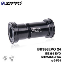 ZTTO Bike Bottom Bracket BB386 24 EVO Threaded-Press Fit Bottom Bracket for46x86.5mm Frame to 24mm Crankset for MTB Road Bike(China)