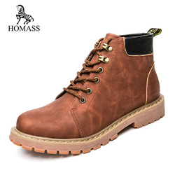 HOMASS 2018 New Arrival Men boots Fashion Martin Boots Spring Autumn Boots Outdoor Casual cheap timber boots men casual shoes