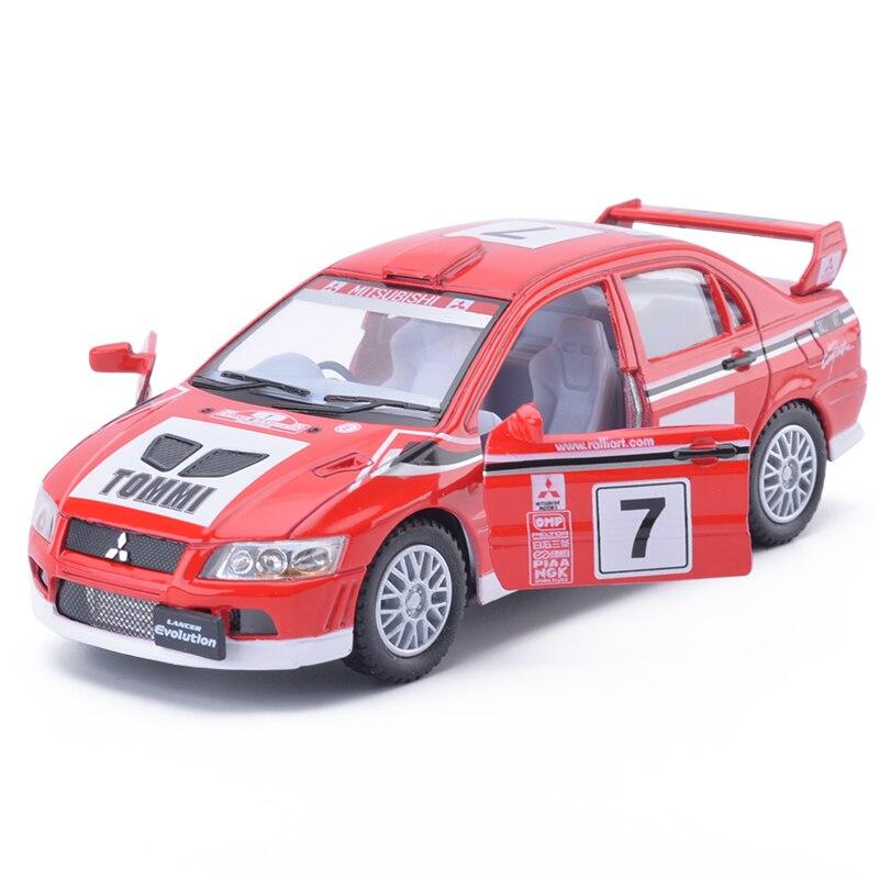 New KiNSMART 1:36 Scale Mitsubishi Lancer Evolution VII WRC Diecast Metal Car Model Toys For Kids Birthday Gifts Collection