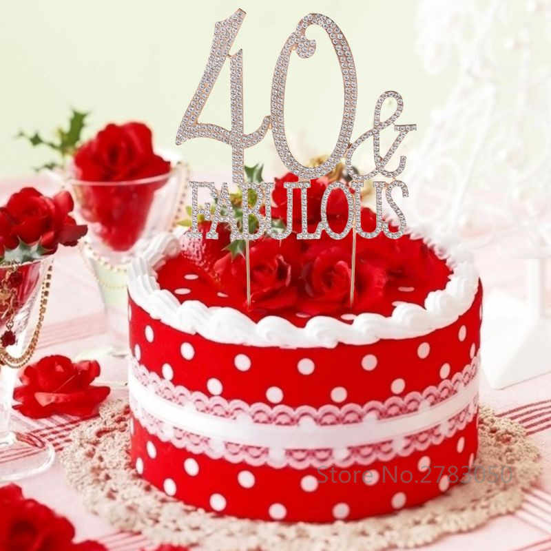 Strange 40 50 Fabulous 40Th 50Th Birthday Cake Topper Number Crystal Personalised Birthday Cards Cominlily Jamesorg