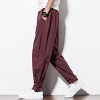 2017 Autumn New Harem Pants Men Casual Sweatpants Elastic Waist Plus Size Brand Clothing Mens Joggers