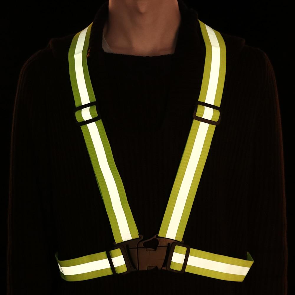 Safety High Visibility Reflective Vest Stripes Jacket Night Running Kids Adult