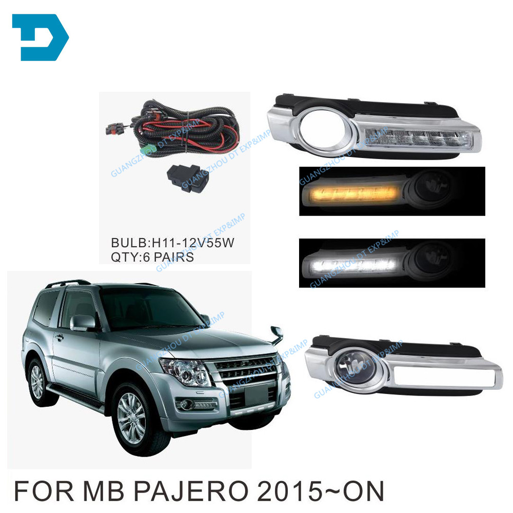 new pajero v97 v93 led fog lamp with bulb v98 v87 front fog lamp with wire and switch with turning signal lamp v98 led drl бачок гур pajero io владивосток